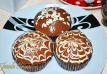 Briose cu ciocolata imagini