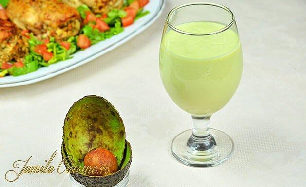 Shake de avocado reteta