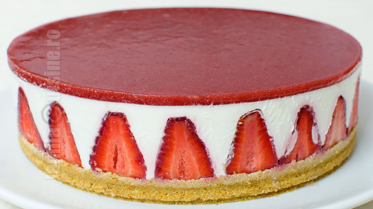 Cheesecake fara coacere realizat pas cu pas