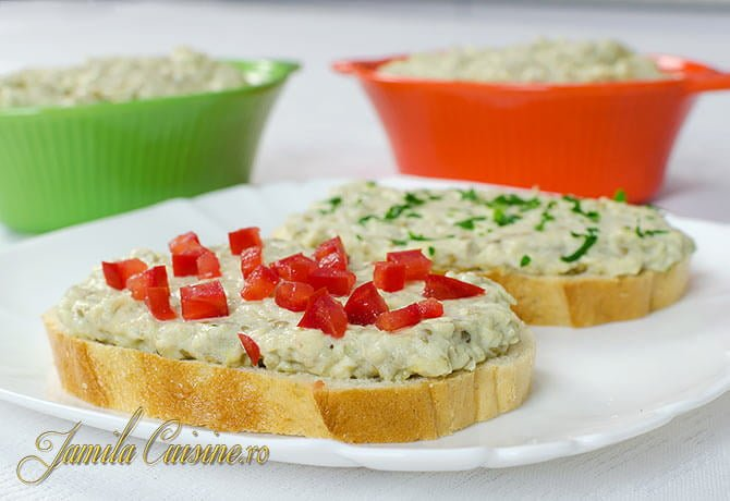 Salata de vinete cu maioneza Salata de vinete