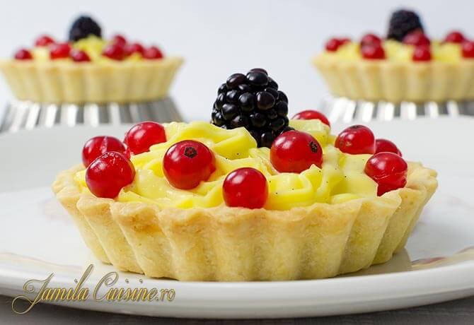 Mini tarte cu fructe reteta video