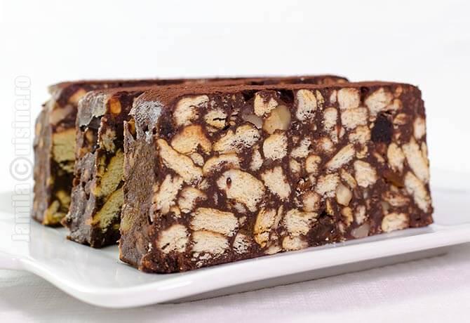 Tort de biscuiti cu ciocolata - JamilaCuisine