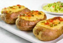 Cartofi umpluti la cuptor