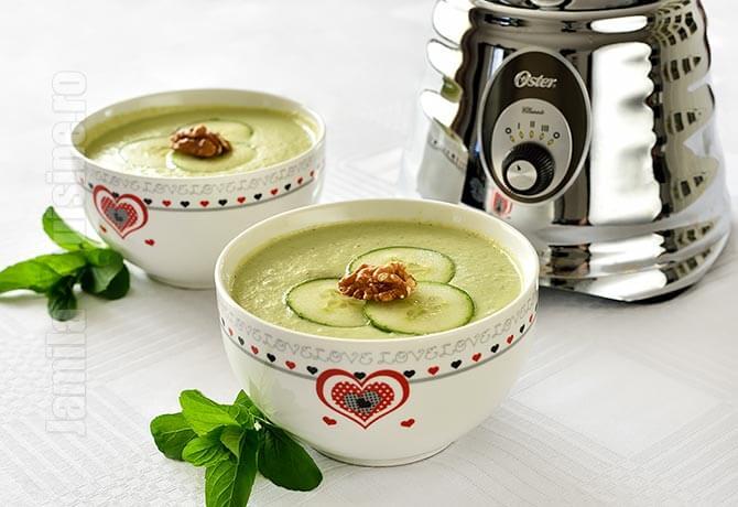 Supa rece de castraveti facuta la blenderul Oster