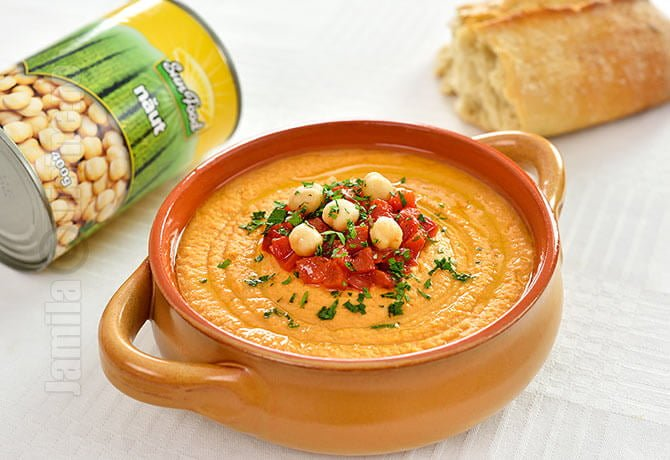 Hummus cu ardei copti - video