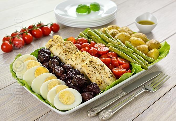 Salata Nicoise cu file de cod | video