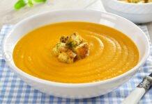 Supa crema de legume coapte
