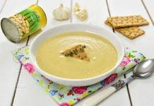 Supa de usturoi copt cu naut
