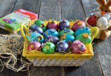 Oua vopsite pentru Pasti
