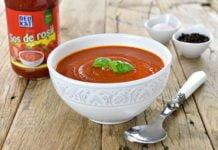 Supa de rosii cu ardei copt - reteta video