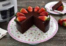 Prajitura cu ciocolata si capsuni la Crock-Pot