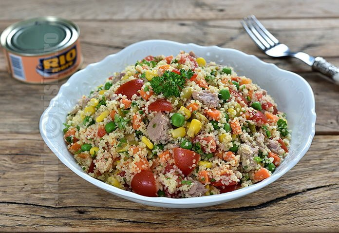 Salata cu ton si couscous