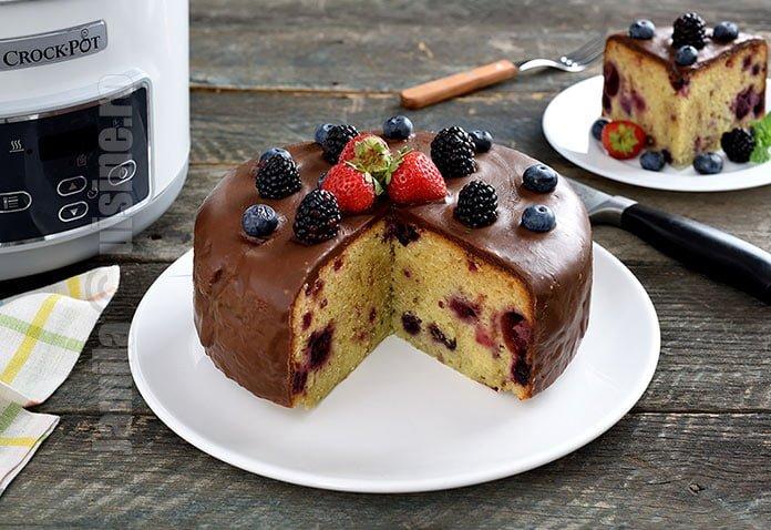 Prajitura cu fructe de padure la Crock-Pot