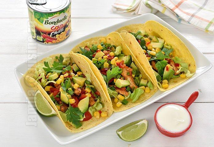Tacos cu pui si porumb