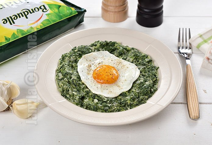 Spanac cremos cu oua