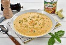 Supa cremoasa de porumb cu creveti