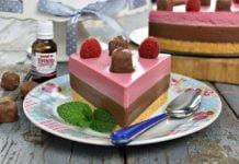 Cheesecake cu ciocolata si zmeura fara coacere