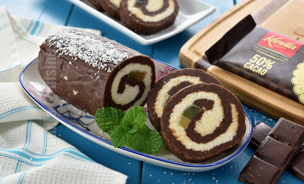 Rulada de biscuiti cu ciocolata