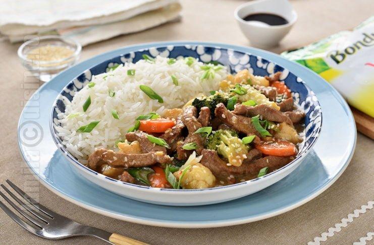 Vita cu legume in stil asiatic