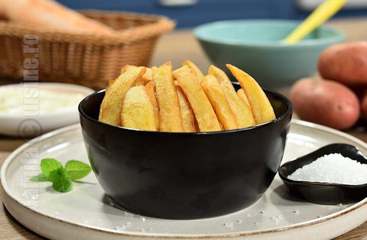 Cartofi prajiti in stil belgian